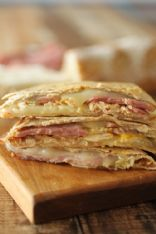 Chicken Cordon Bleu Quesadilla for One