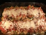 Chicken Parmesan and Zucchini Noodle Bake