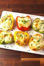 Chicken Spinach & Artichoke Stuffed Peppers (Keto)