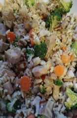 Chicken and rice blend with veggies