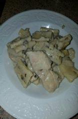 Chicken noodles mushroom soup