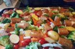 Chicken sausage & veggie Bake