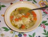 Chicken with Root Vegetables Soup