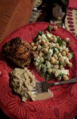 Chickpea feta salad