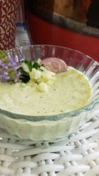 Chilled Cucumber Soup with Yogurt, Cilantro, and Coriander