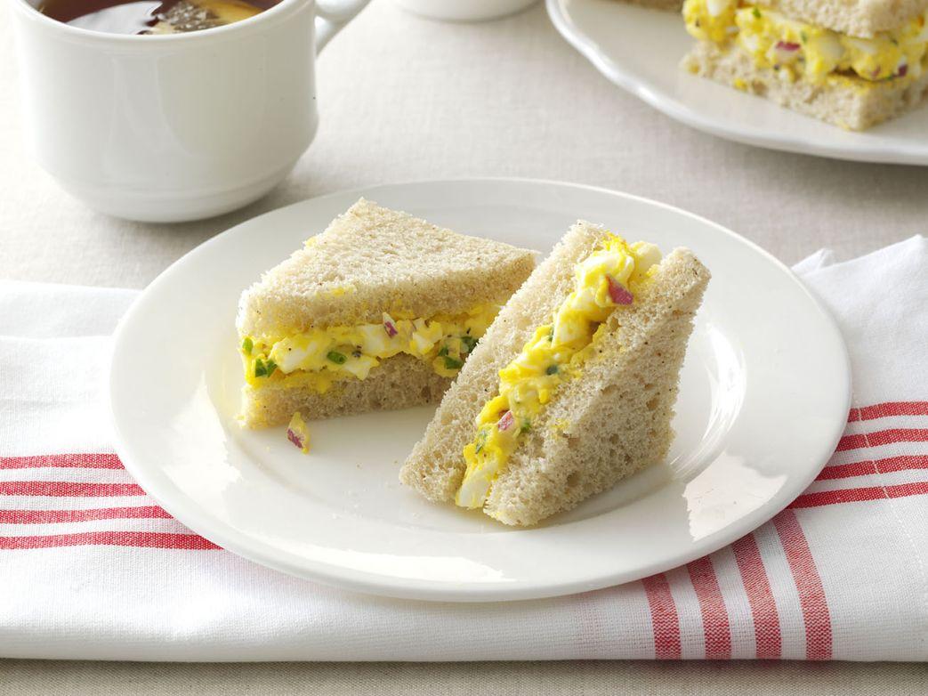 Chive and Tarragon Egg Salad Mini Sandwiches