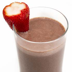 Atkins Chocolate and Strawberry Smoothie