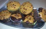 Chocolate Peanut Butter Zucchini Muffins (VEGAN)