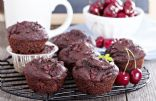 Chocolate Sour Cherry Muffins
