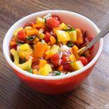 Chopped Veggie Salad with Raspberry Vinaigrette