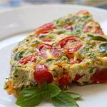 Atkins Chorizo, Green Chili and Tomato Frittata