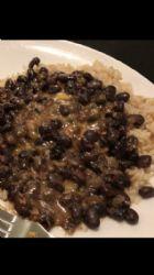 Cilantro black beans