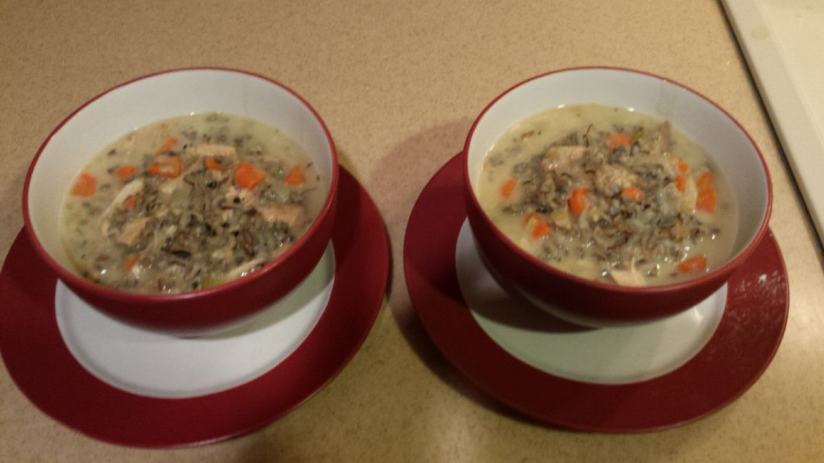 Creamy Chicken & Wild Rice Soup (1.5 c= serving)