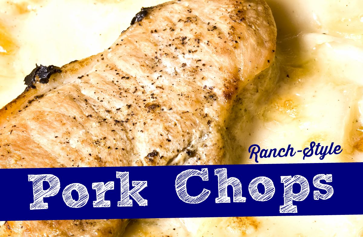 Creamy Ranch Pork Chops & Rice