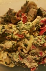 Creamy Spinach and Chicken Tortellini