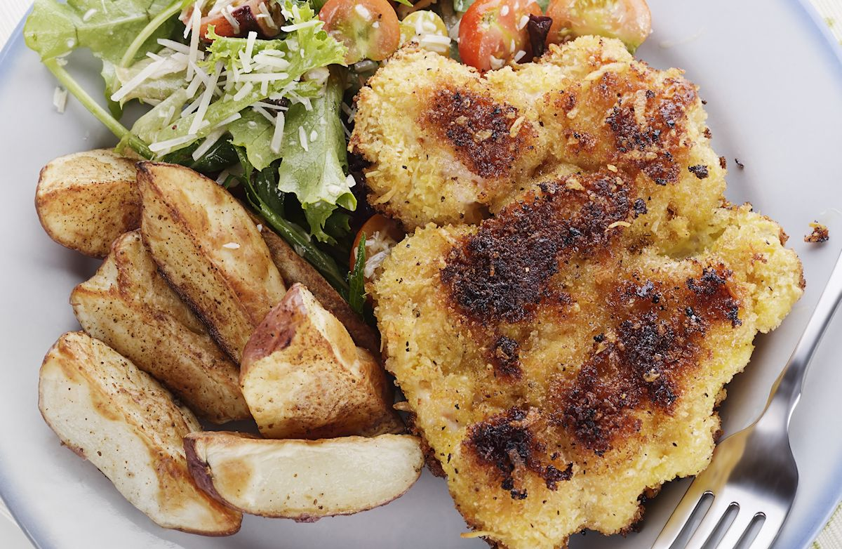 Crispy Crusted Baked Chicken Breasts Recipe | SparkRecipes