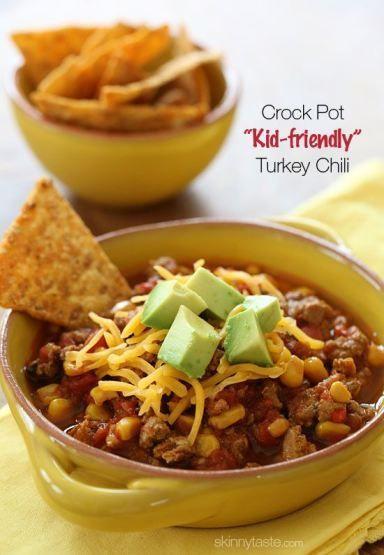 Crock Pot Kid-Friendly Turkey Chili