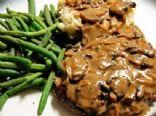 Crock pot cube steak dinner