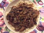 Crock pot smothered steak strips