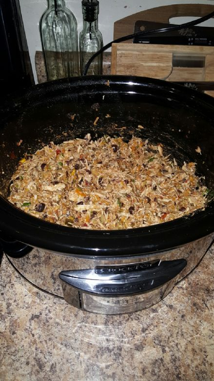 Crockpot Southwest Shredded Chicken