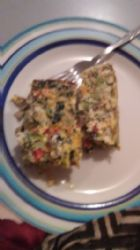Crustless Duck Eggs Spinach and Broccoli Quiche