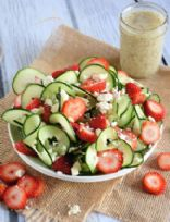 Cucumber Strawberry Quick Salad