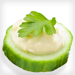 Atkins Cucumbers and Hummus
