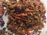 Deer loin and Birdseye veggies stirfry with rice medley