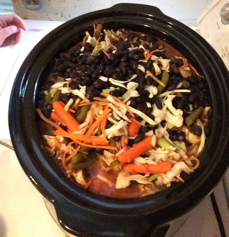 Detox Crockpot Cabbage Soup (vegetarian)