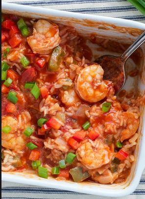 Dump and Bake Shrimp Etouffee