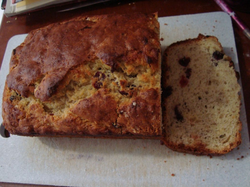 Easy Banana Cranberry Bread