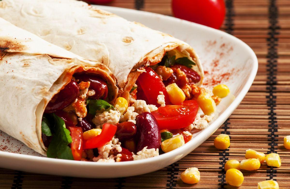 Easy Bean & Veggie Burritos RECIPE