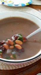 Easy Southwest Black And White Bean Soup