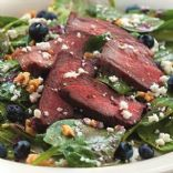 Eating Well Spinach Salad with Steak & Blueberries