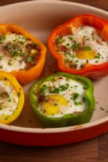 Egg Stuffed Bell Pepper (Egg in a Hole)