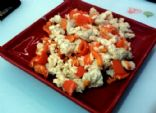 Egg White Scramble - Chicken Breast and Bell Pepper