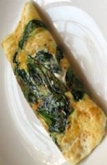 Egg white spinach and parmesan