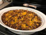 Enchilada Casserole with Veggie Crumbles