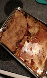 Enchilada casserole with homemade enchilada sauce