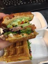 Fat Sheep Cafe - Veggie Waffle Sandwich