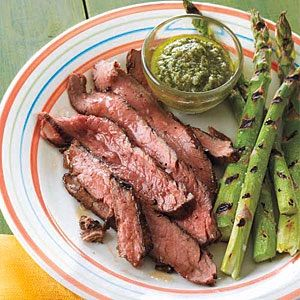 Flank Steak with Salsa Verde