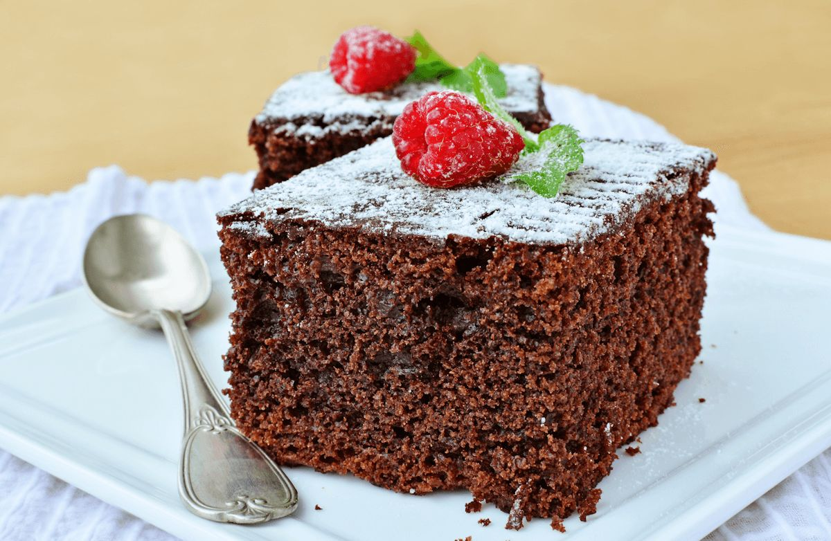 Flourless Gluten-Free Chocolate Cake with Raspberries