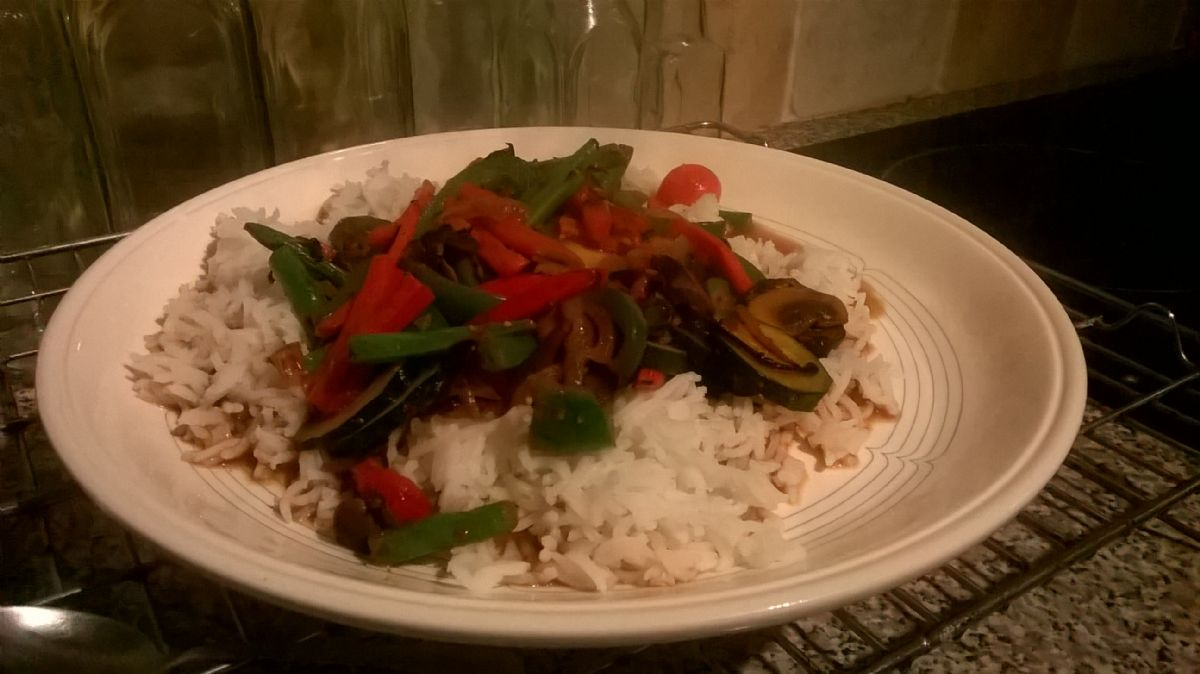 Fragrant veggie stir fry