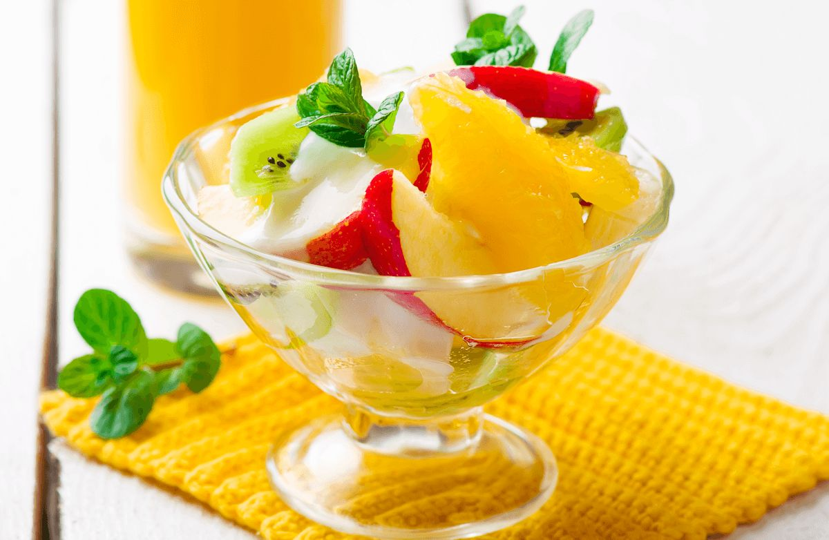 Fresh Fruit Salad with Honey-Yogurt Dressing