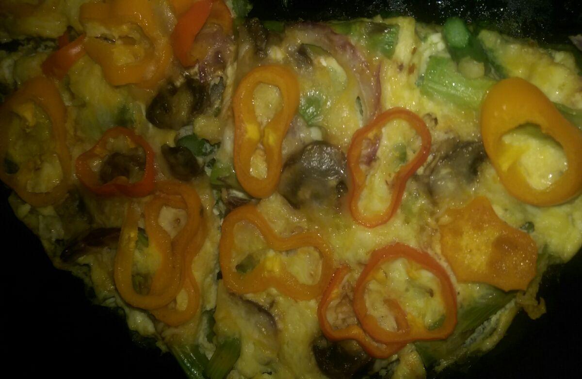 Fritatta kale veggies