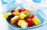 Fruit Kabobs with Coconut Yogurt Dip