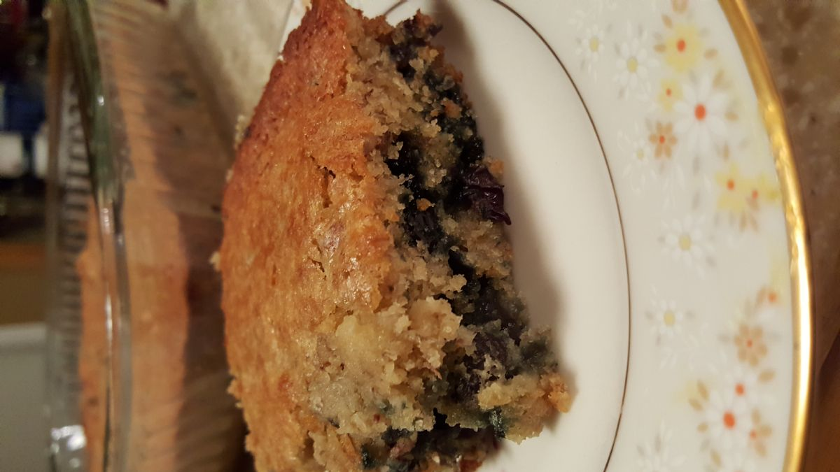 GF banana blueberries bread