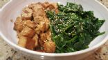 Garlic Honey Tofu and Spinach