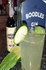 Gin gimlet with lavender bitters