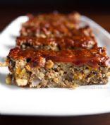 Glazed Lentil Walnut Apple Loaf